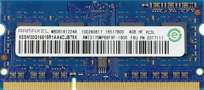 RAMAXEL 4GB PC3L-12800 1600MHz RMT3170MP68F9F-1600