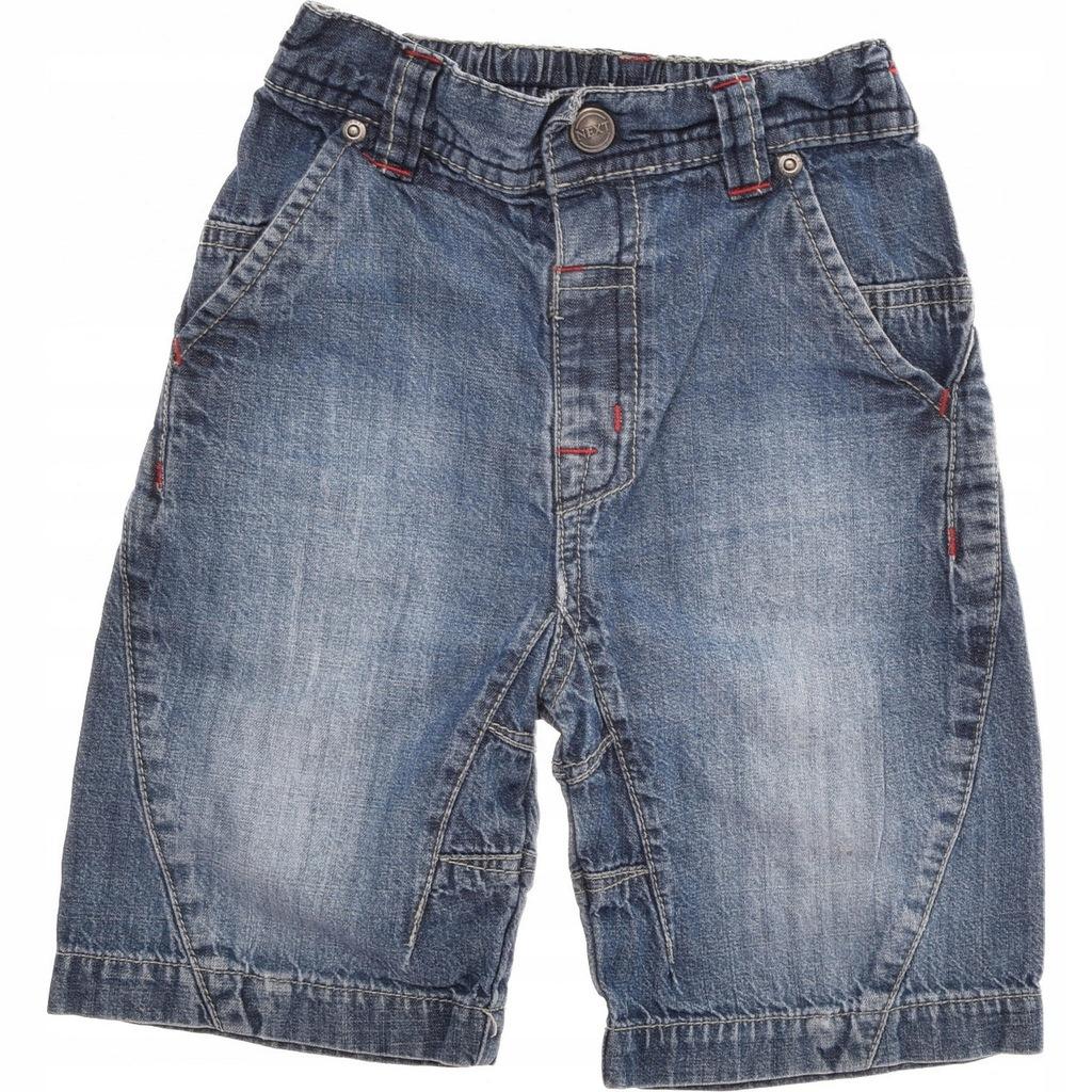 NEXT krótkie spodenki jeansowe chłopięce 86