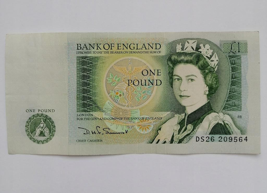 1 Funt Pound Anglia Wielka Brytania 1971-82
