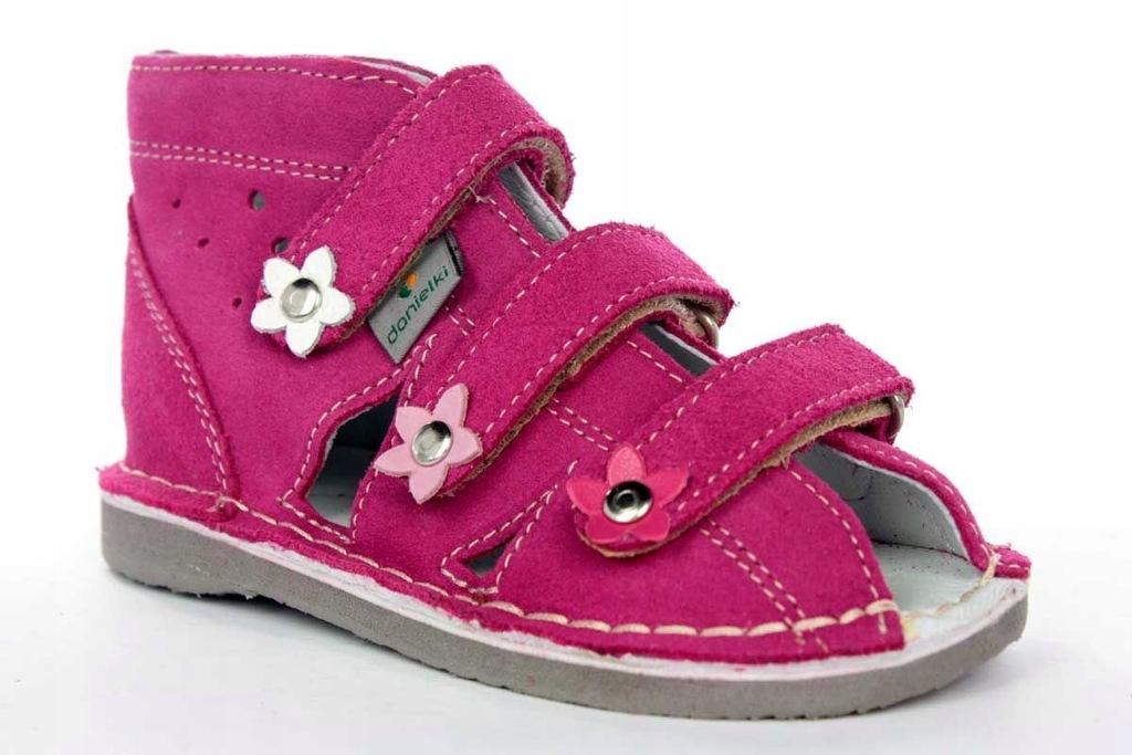 Danielki S124 profilaktyczne obuwie róż R32