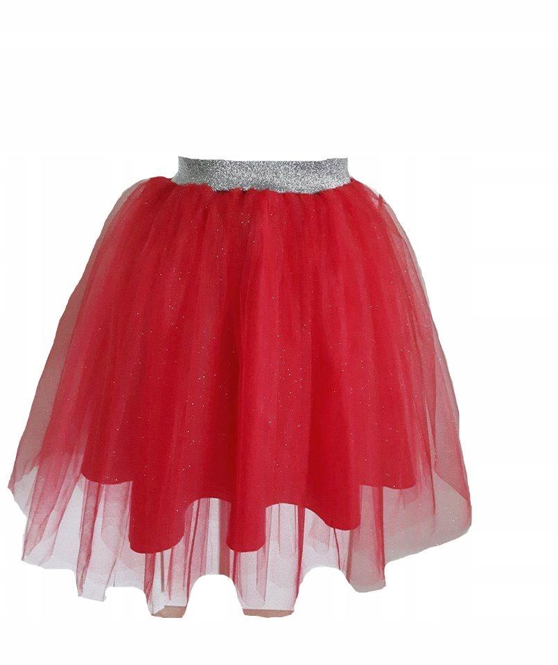 NOWA z tiuluTiulowa czerwona spódnica piękna studniówka święta