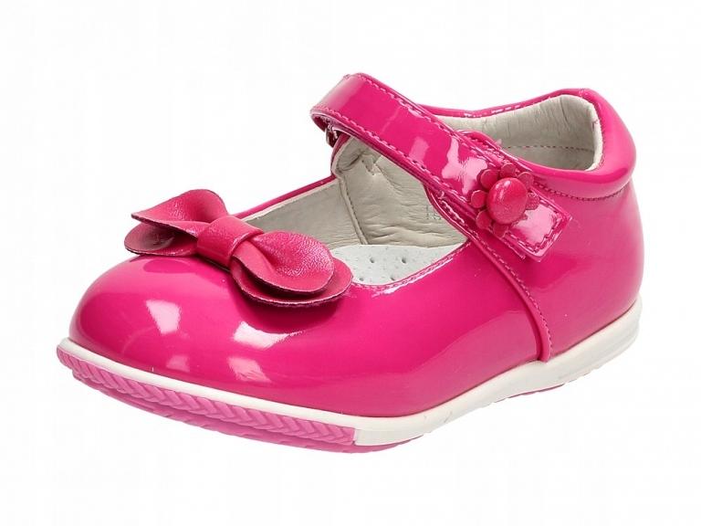 Balerinki, buty dziecięce BADOXX 541 FUKSJA r23