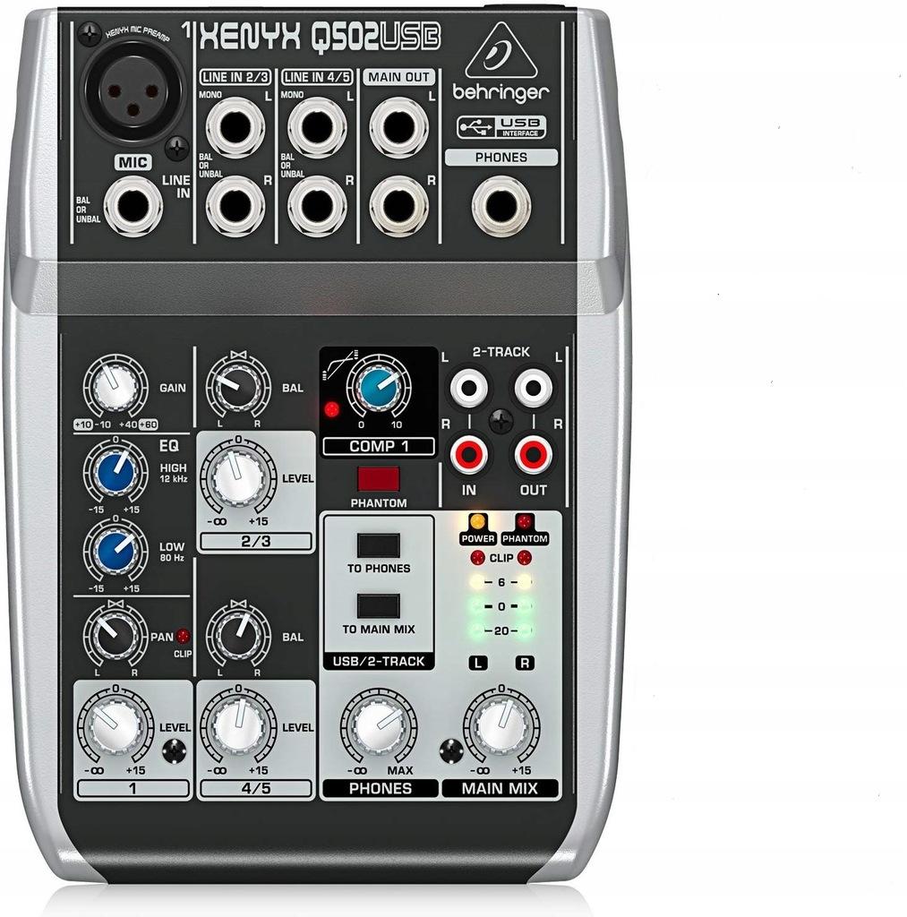 Behringer XENYX Q502USB - mikser audio