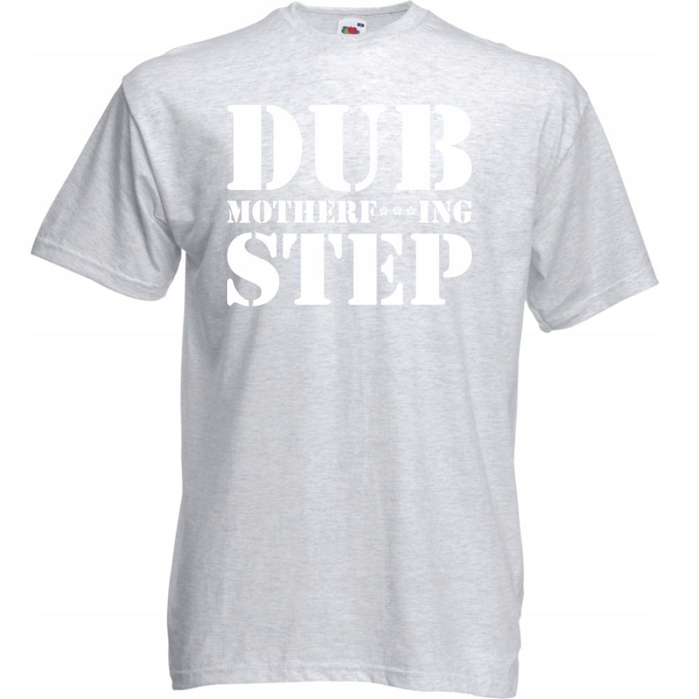 Koszulka z nadrukiem dubstep dub S ash szara