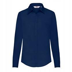 DAMSKA koszula POPLIN LONG FRUIT granatowy XL