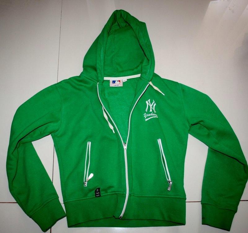 Bluza New York zielona mięsista XS S 34 36