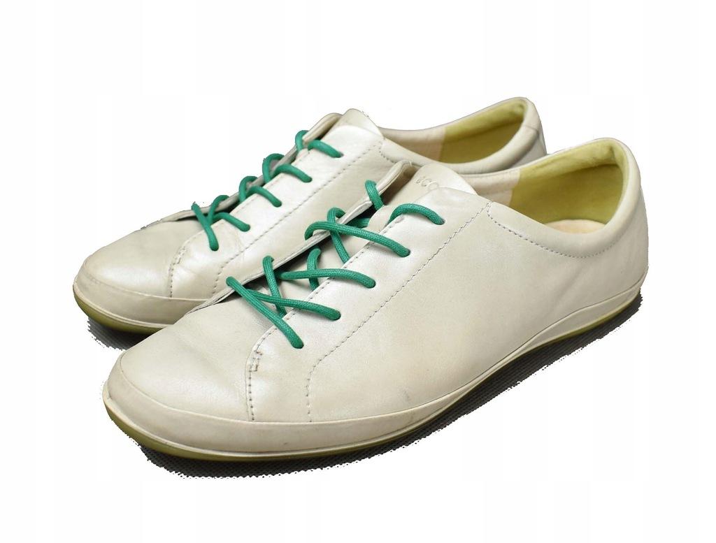 ECCO oryginalne buty SKÓRA perłowe OKAZJA roz 40