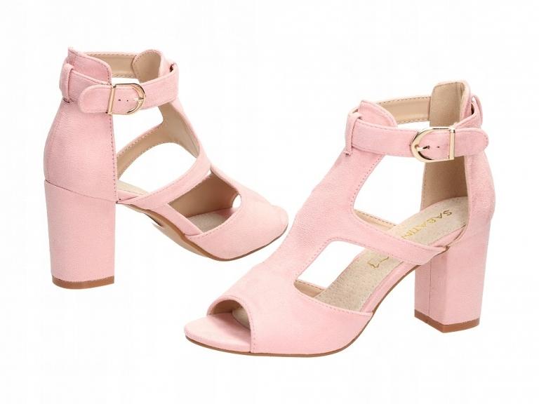 Różowe sandały damskie SABATINA DM19 20 SŁUPEK