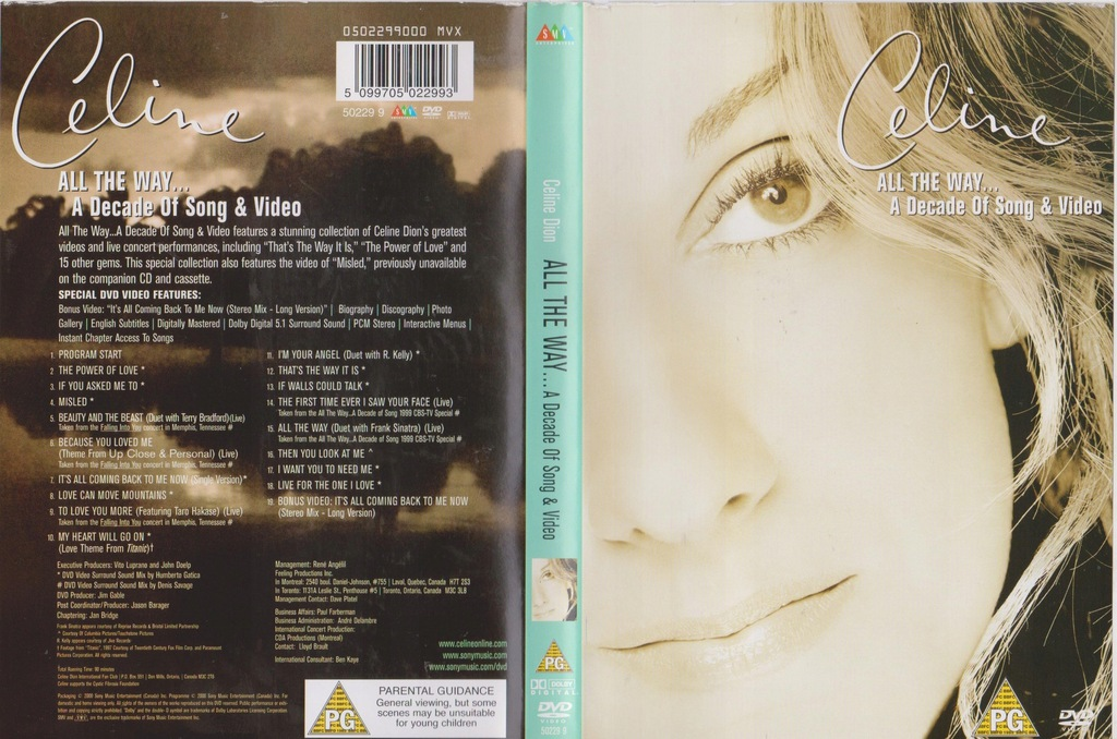Celine Dion - All the Way a Decade of Songs DVD