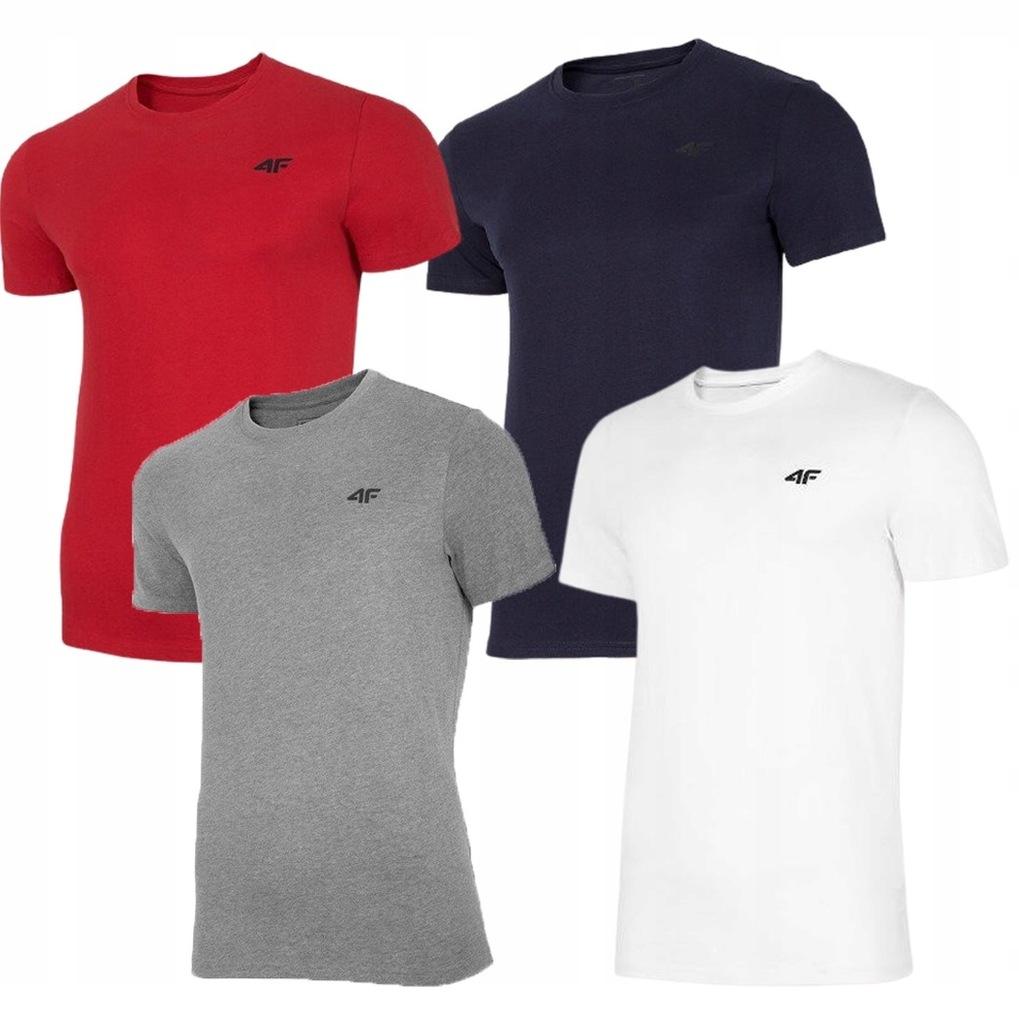 T-shirt męski 4F TSM003 4 PAK zestaw koszulek XXL