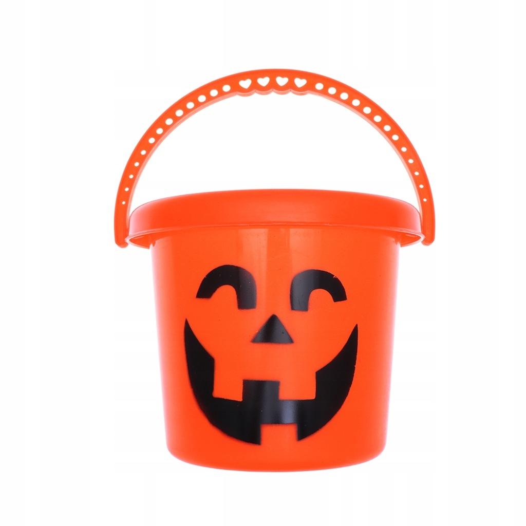 Halloween Portable Pumpkin Bucket Plastic Pumpkin