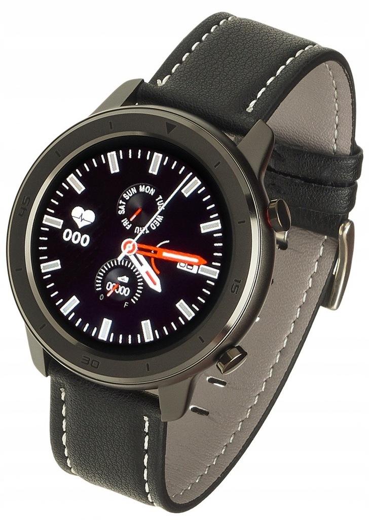 Smartwatch Men 5S Czarny Skórzany