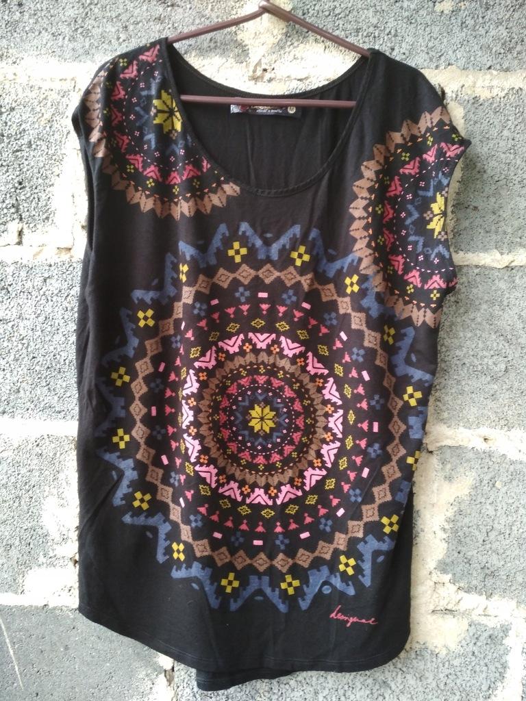 DESIQUAL Bluzka MANDALA etno boho orient folk