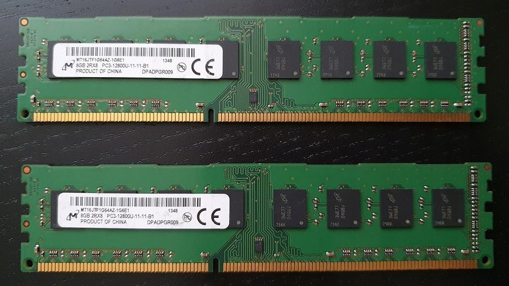 16GB DDR3 (2X8GB) 1600  MICRON sparowane  pROMo!
