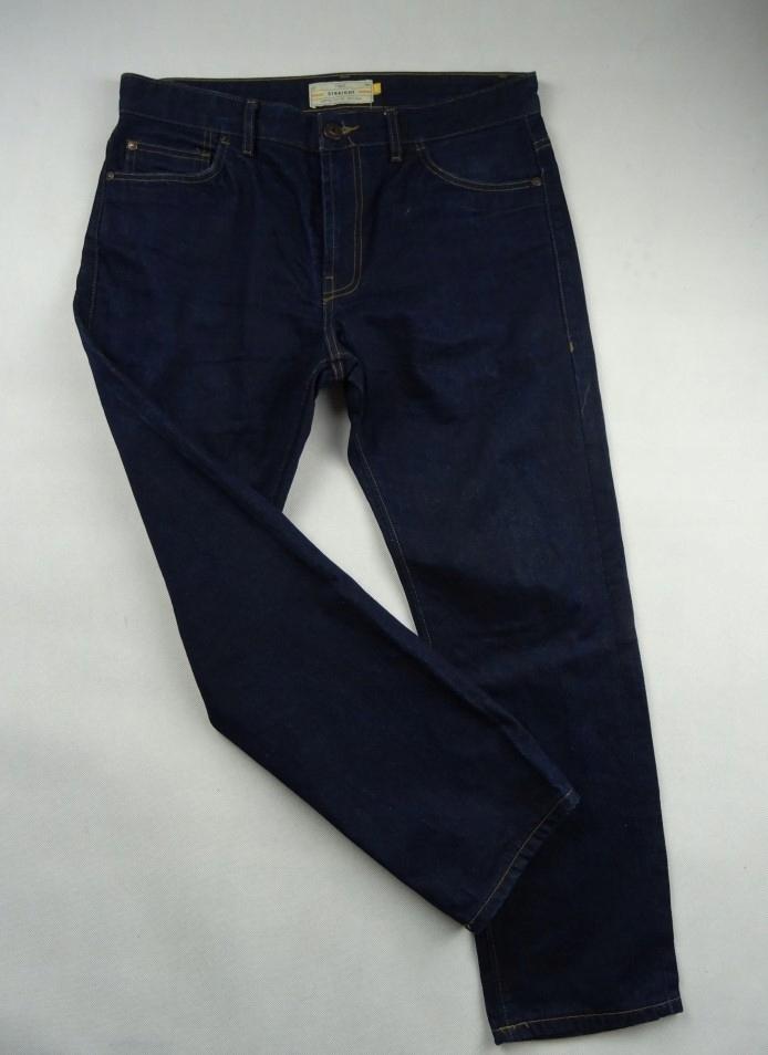 45_ NEXT jeansy PROSTE granat MĘSKIE 44/XXL