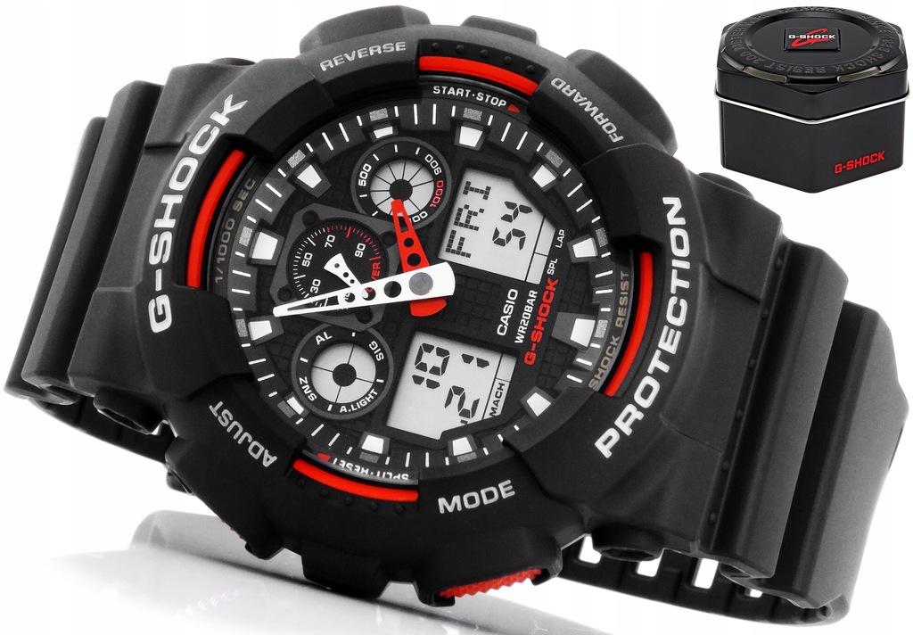 zegarek sportowy casio ga-100-1a4er cena nastawienie godziny