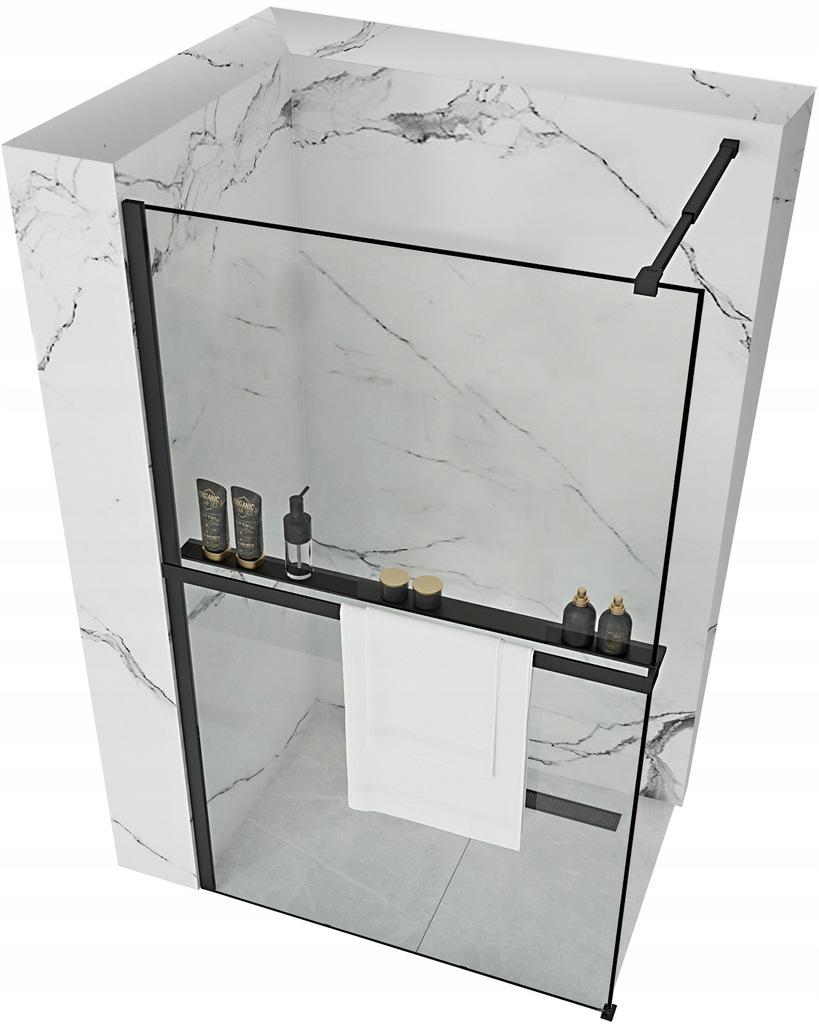 Ścianka prysznicowa BLER 80x195cm Półka Wieszak