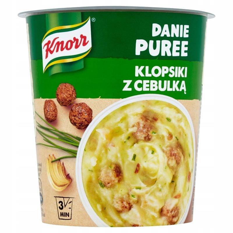 Danie błyskawiczne puree Knorr klopsiki z cebulką
