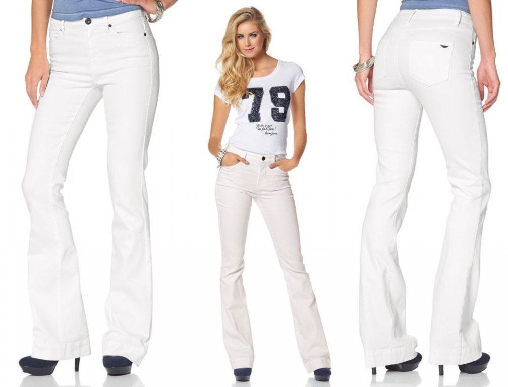 białe spodnie szerokie nogawki meski