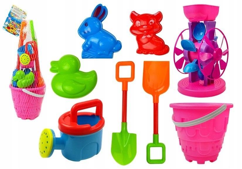 Zabawki Plażowe Łopatki Wiaderko 8 elementów