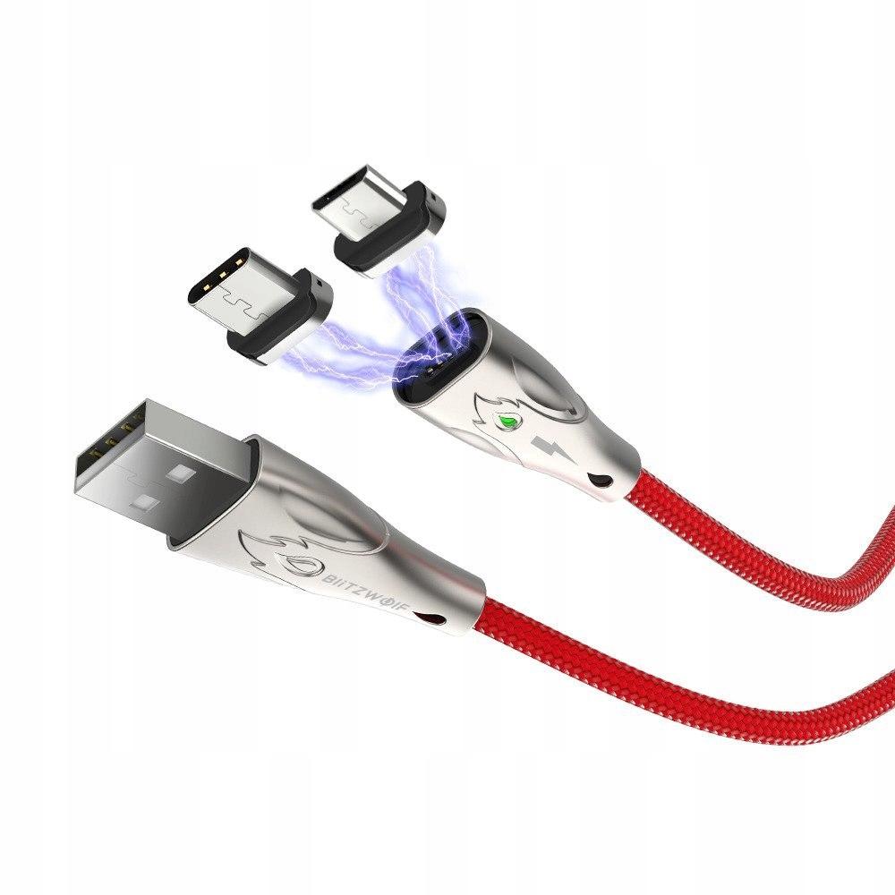 Kabel magnetyczny micro USB Blitzwolf BW-TC20, 3A,