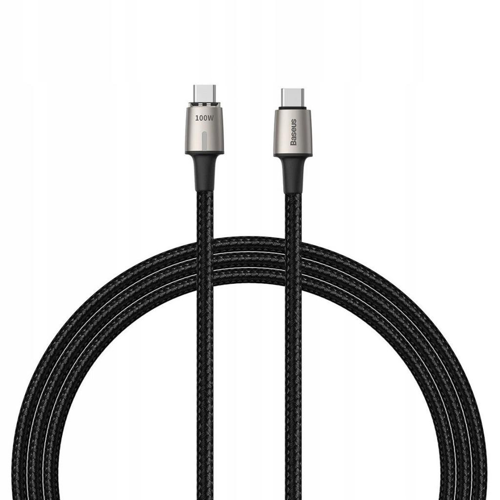 Kabel USB-C do USB-C, magnetyczny Baseus Zinc 5A 1