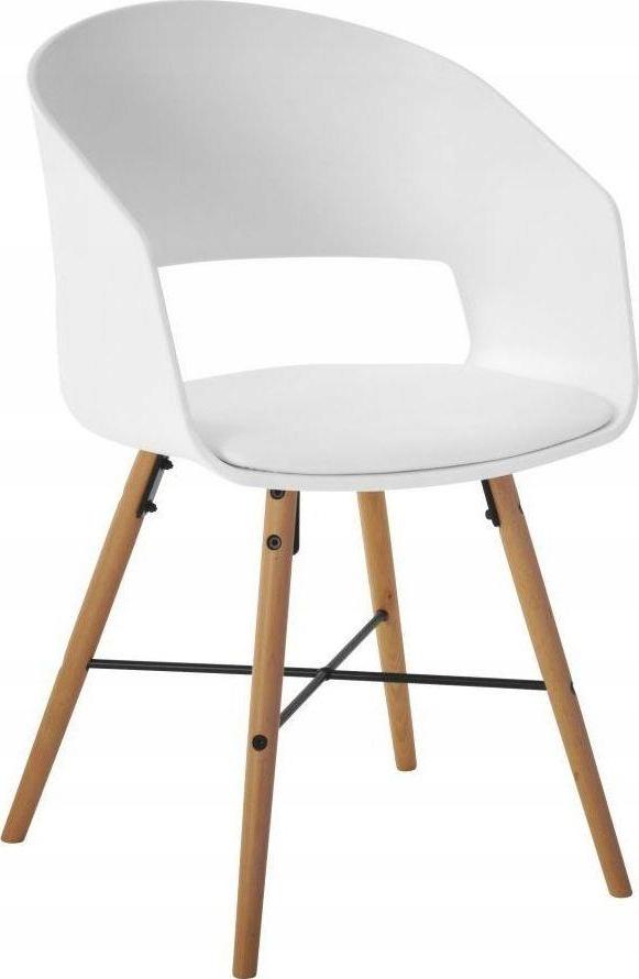 Krzesło Cai 52x81 cm biało-drewniane sfmeble