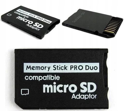 Adapter MicroSD na Memory Stick ProDuo Pro Duo PSP