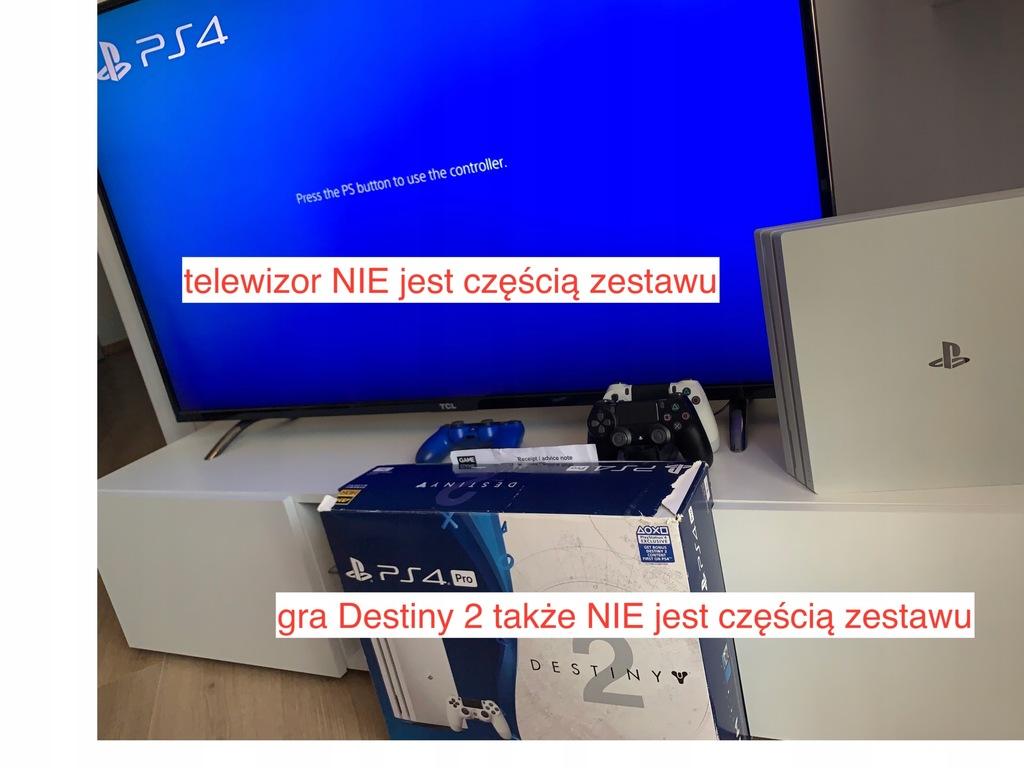 PS4 Pro 1TB biała, 3 pady, stacja ładująca, 6 gier