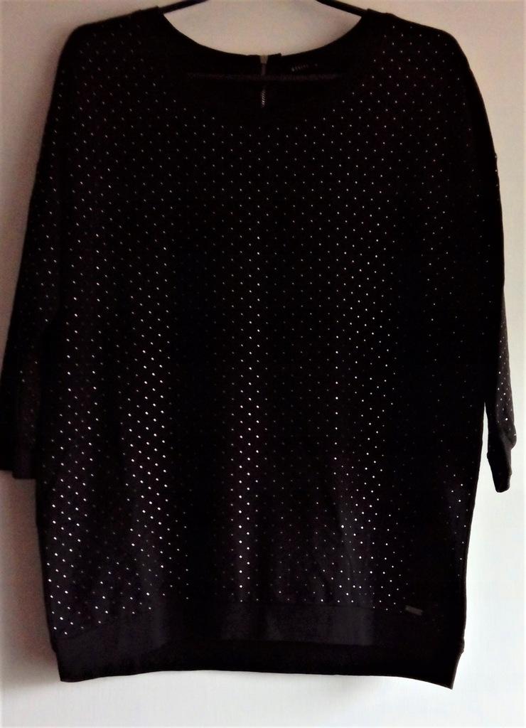 Czarna bluza MOHITO z dżetami zamkiem XL