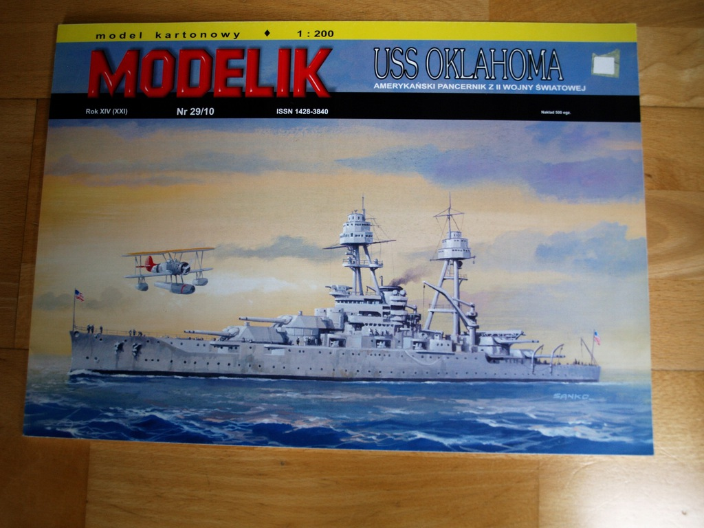 Modelik 29/10 USS OKLAHOMA