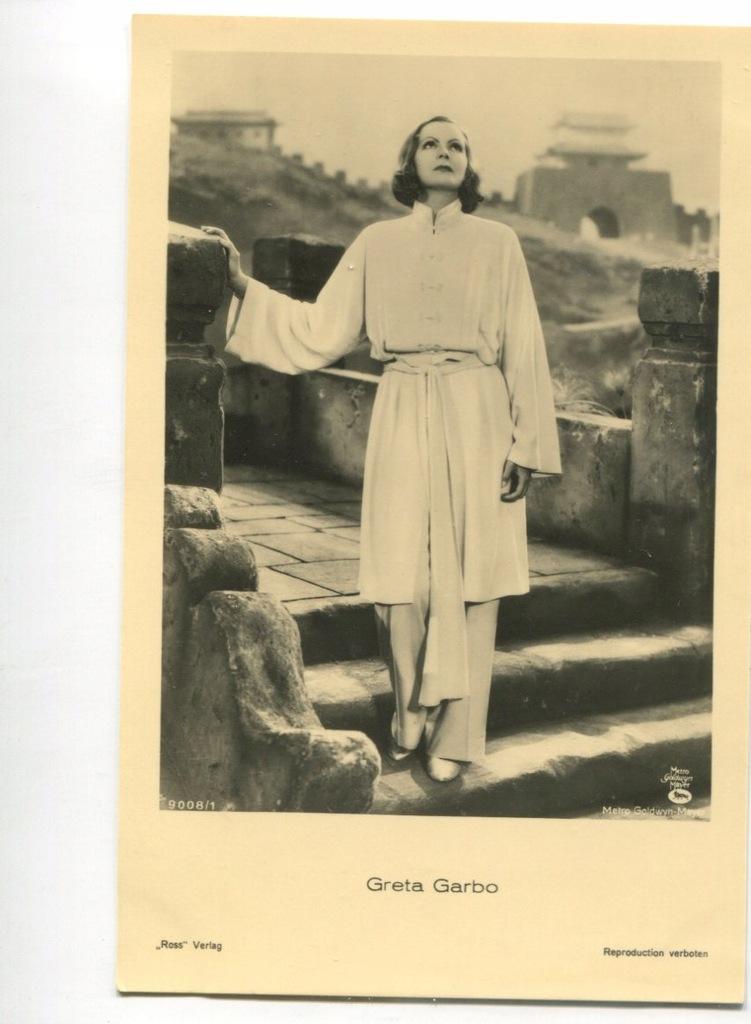Greta Garbo Kino Film Aktorka Foto Pocztówka 38