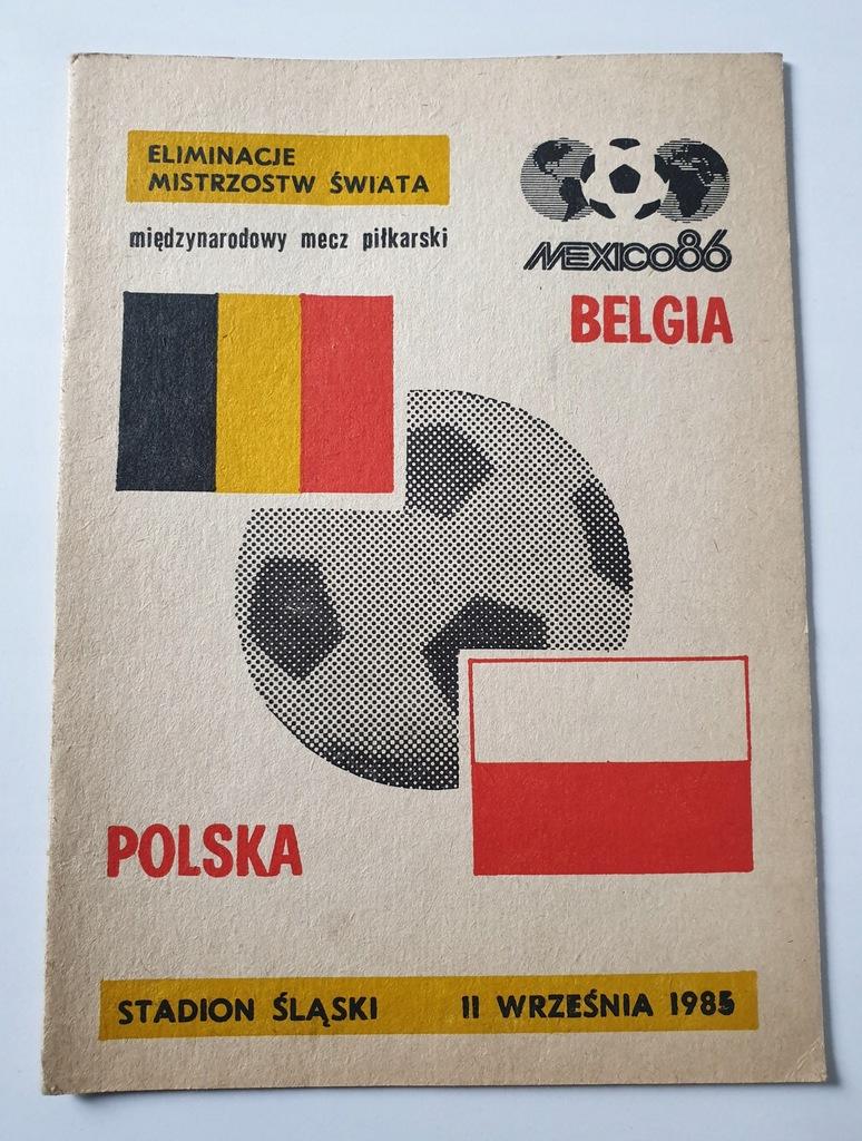 PROGRAM POLSKA - BELGIA 1985