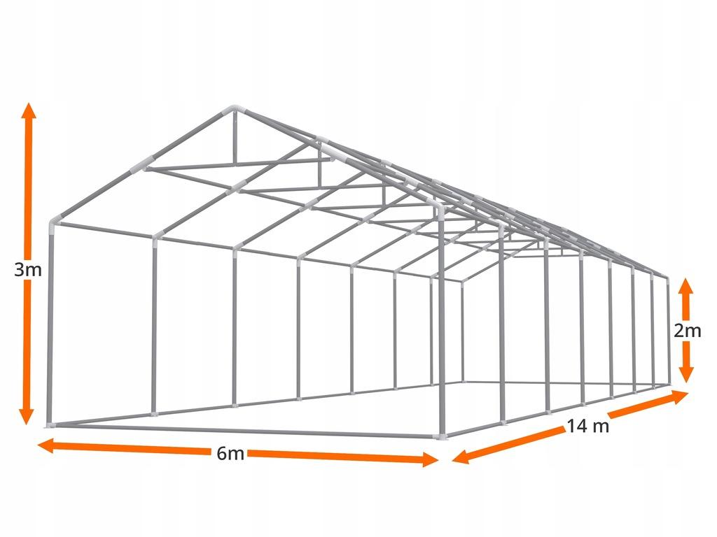 Namiot GRAND 6x14 imprezowy CAŁOROCZNY +GRATIS 7539433149