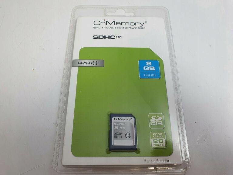 KARTA SD KARTAPAMIĘCI 8GB CN MEMORY SDHC