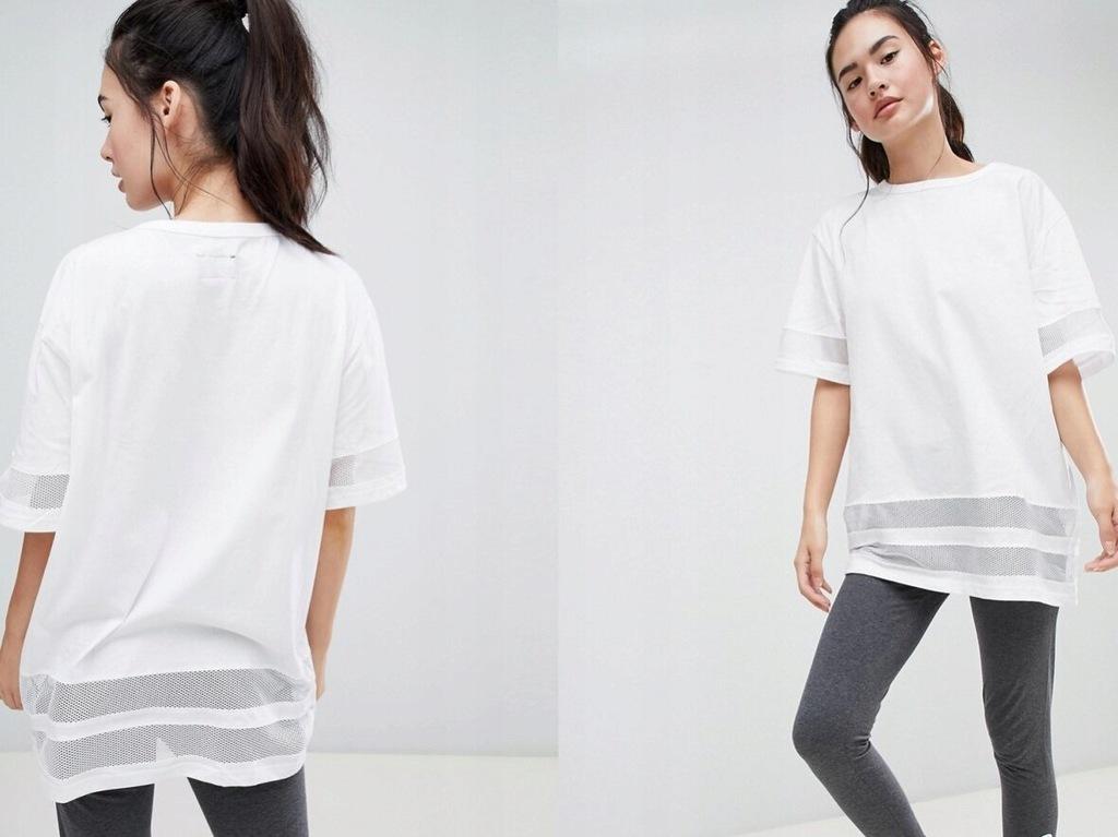 BLFD - długi T-shirt z wstawkami z siateczki M
