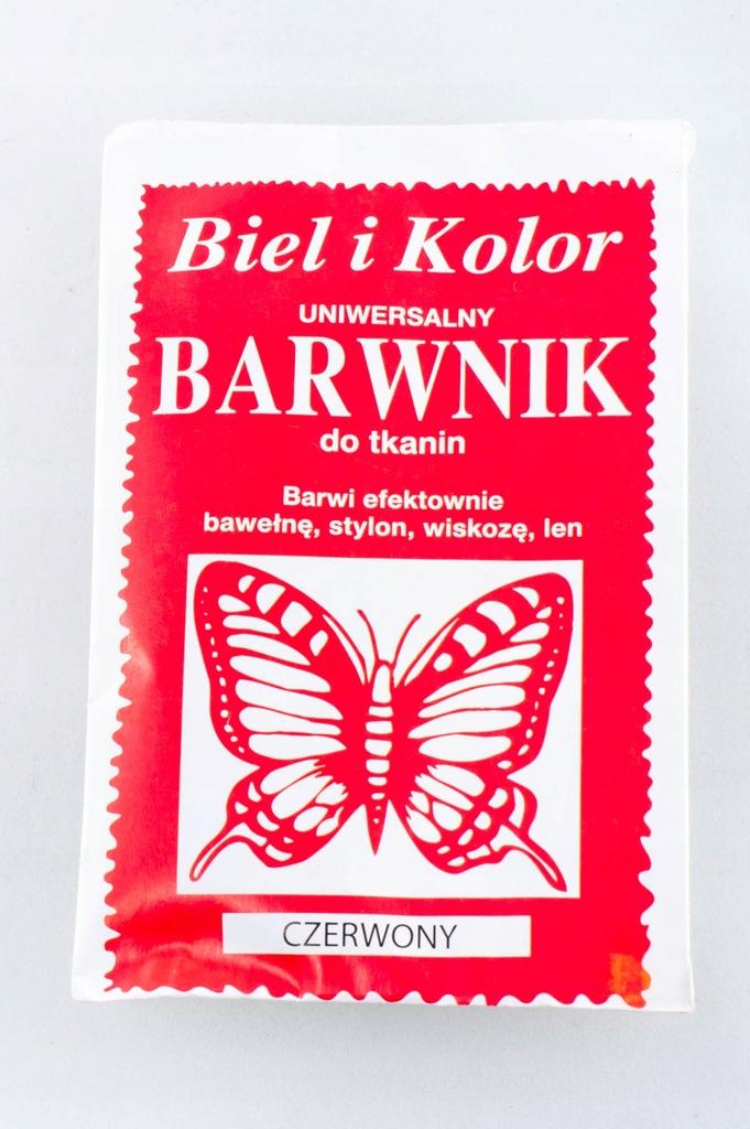 Barwnik do tkanin 10g CZERWONY