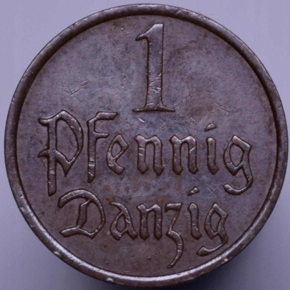 1937 WMG Wolne Miasto Gdańsk - 1 fenig