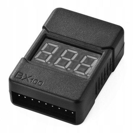 Miernik i Alarm Buzzer BX100 LiPo 2-8S - Miernik a