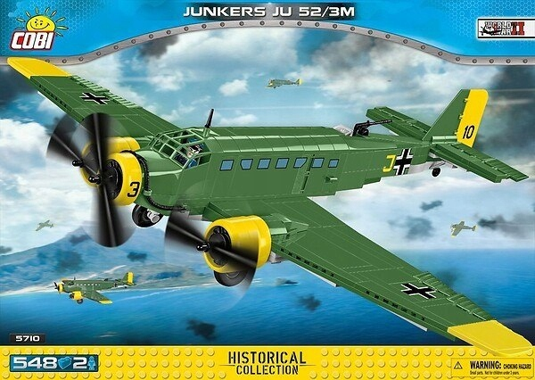 Klocki HC WWII Junkers JU 52/3M 548 elementów