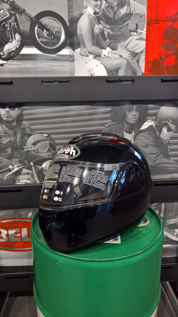 Kask motocyklowy Airoh Speed Fire Black roz. XL
