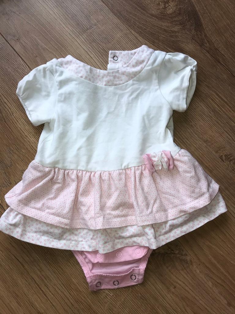 sukienka niemowlęca + body 56