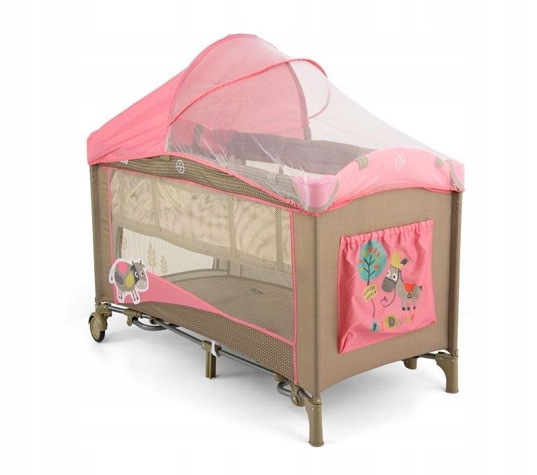 Łóżeczko Mirage Deluxe Pink Cow Świeci Gra Wibruje