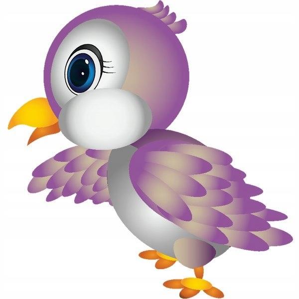 Mała papuga 30x30cm naklejka dziecko ścienna