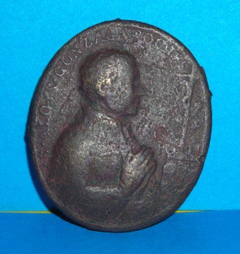 Zabytkowy bardzo stary i duży medalik - XVII wiek