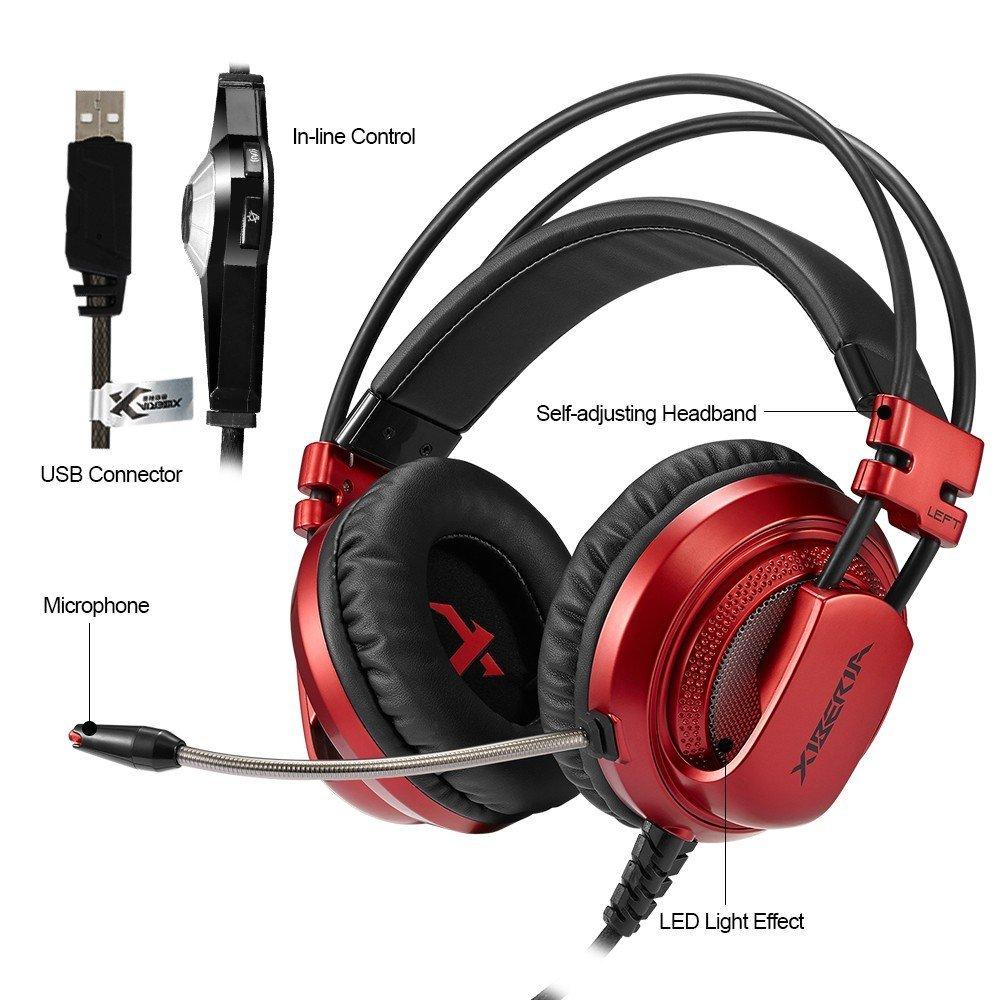 Słuchawki XIBERIA V10 USB GAMING z mikrofonem