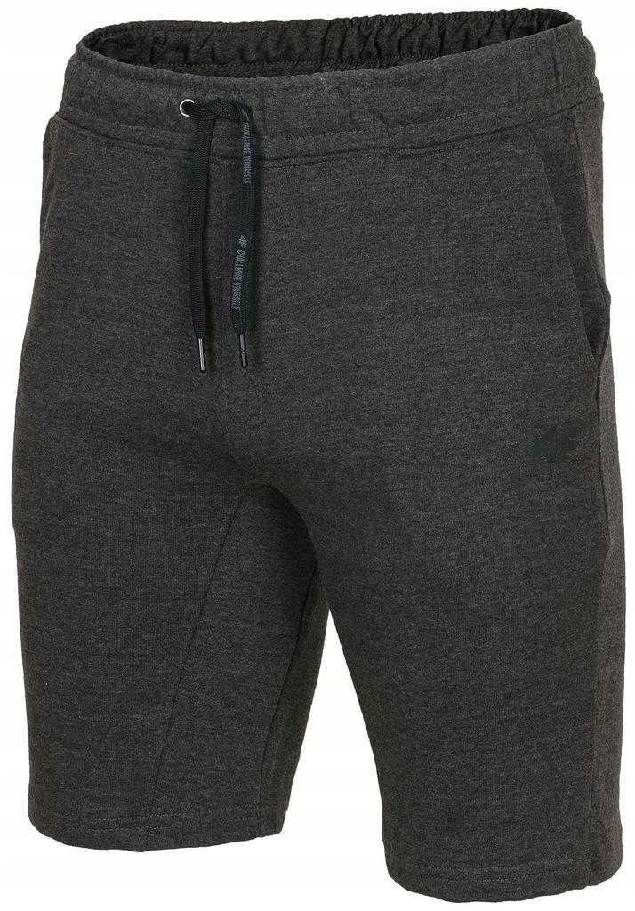 4F Bawełniane Męskie szorty dresowe H4L18SKMD001#L