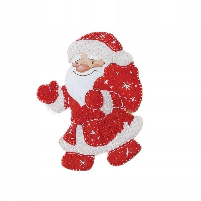 Świąteczna zabawka z filcu koralikami święty