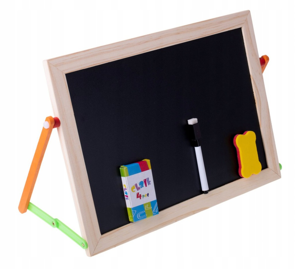 Tablica kredowa + panel edukacyjny 41x27cm