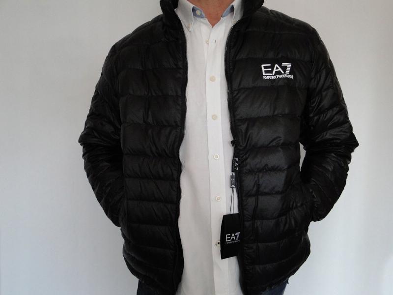 kurtka Armani EA7 L czarna stójka Made in Italy